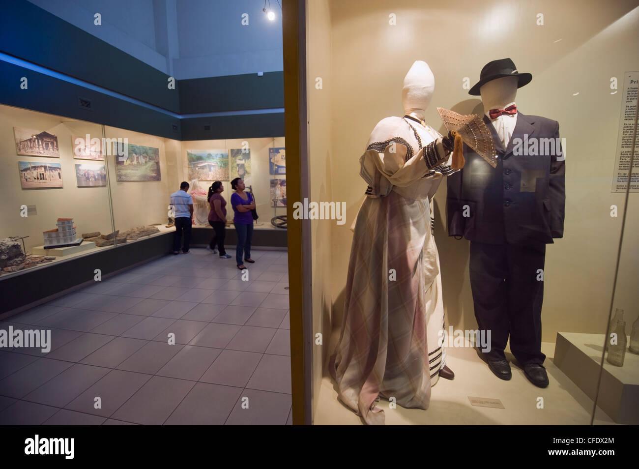 Tourists at Museo Nacional de Antropologia David J Guzman, Anthropology museum, San Salvador, El Salvador, Central - Stock Image