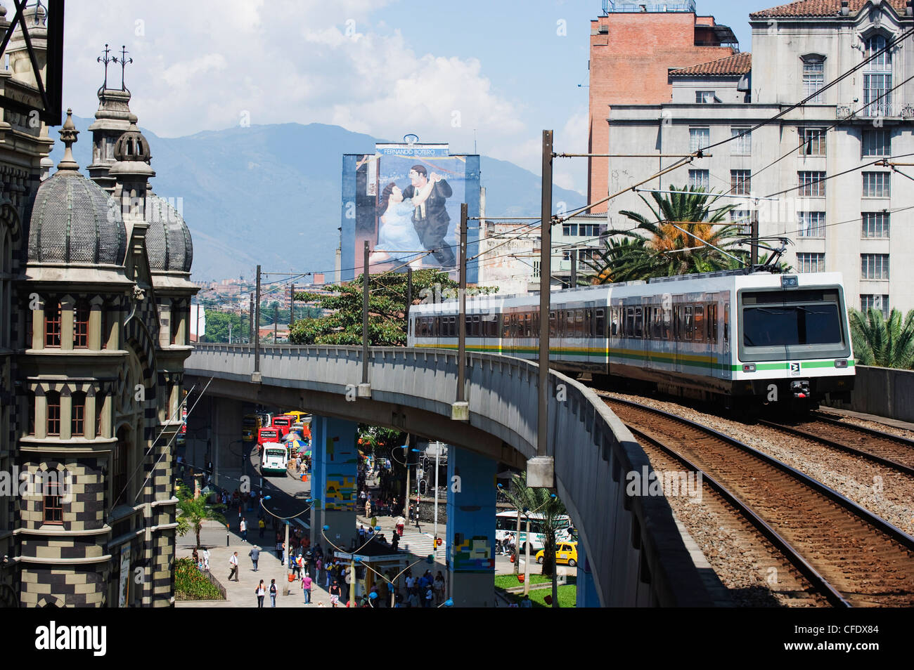 Metro line, Medellin, Colombia, South America - Stock Image