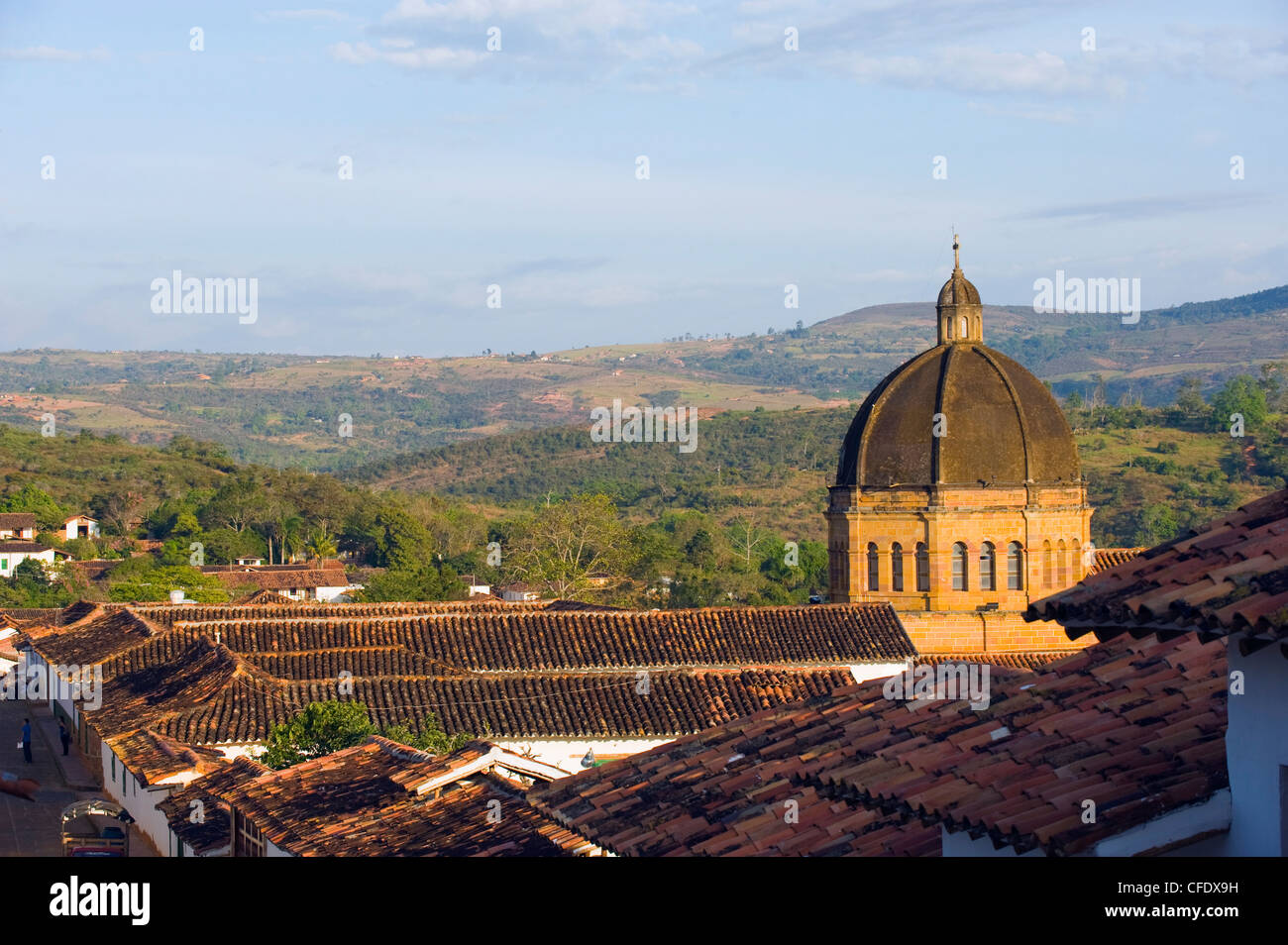 Catedral de la Inmaculada Concepcion (Cathedral of the Immaculate Conception), Barichara, Colombia, South America - Stock Image