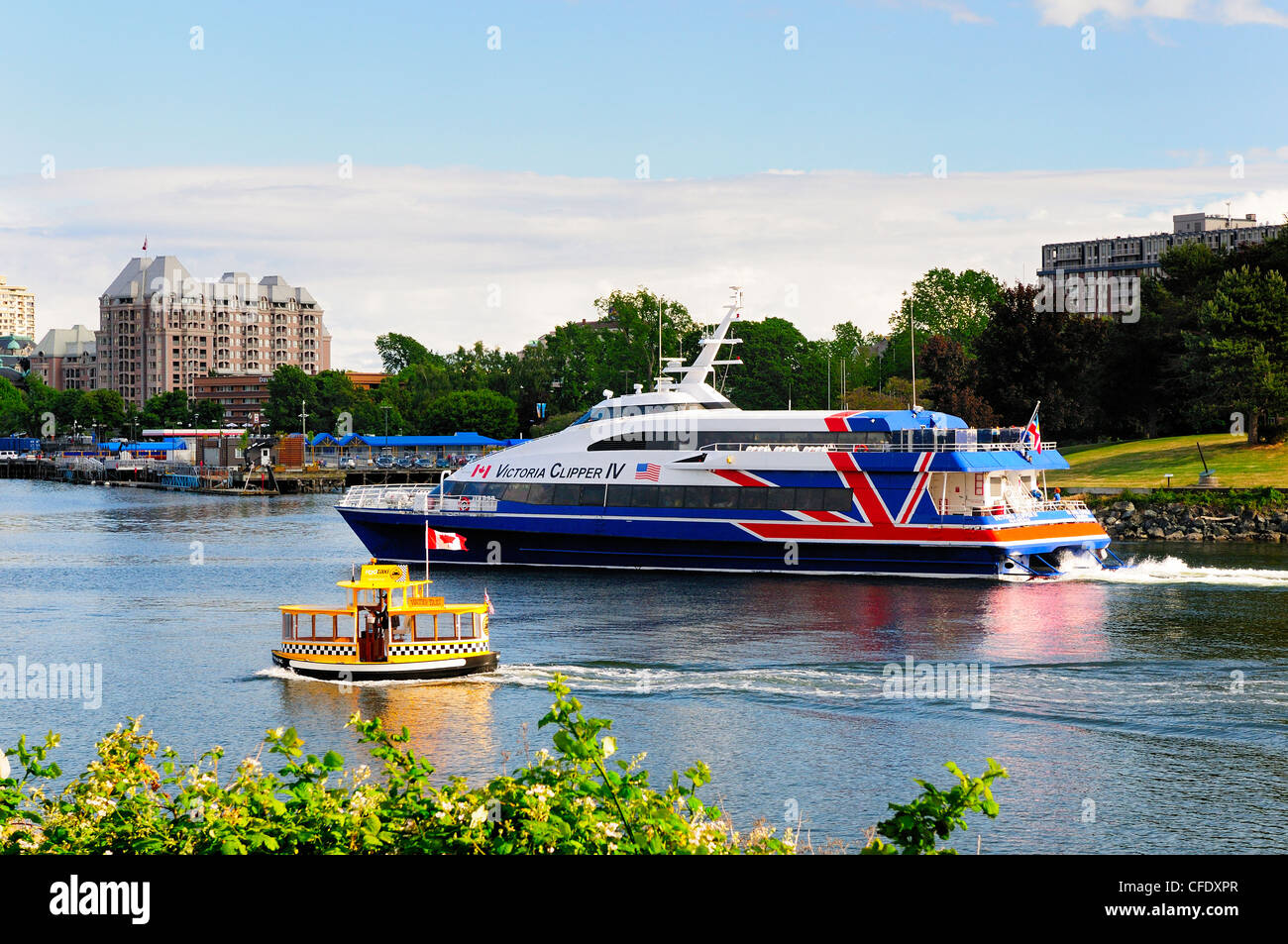 Different Modes Transportation Inner Harbour Stock Photo