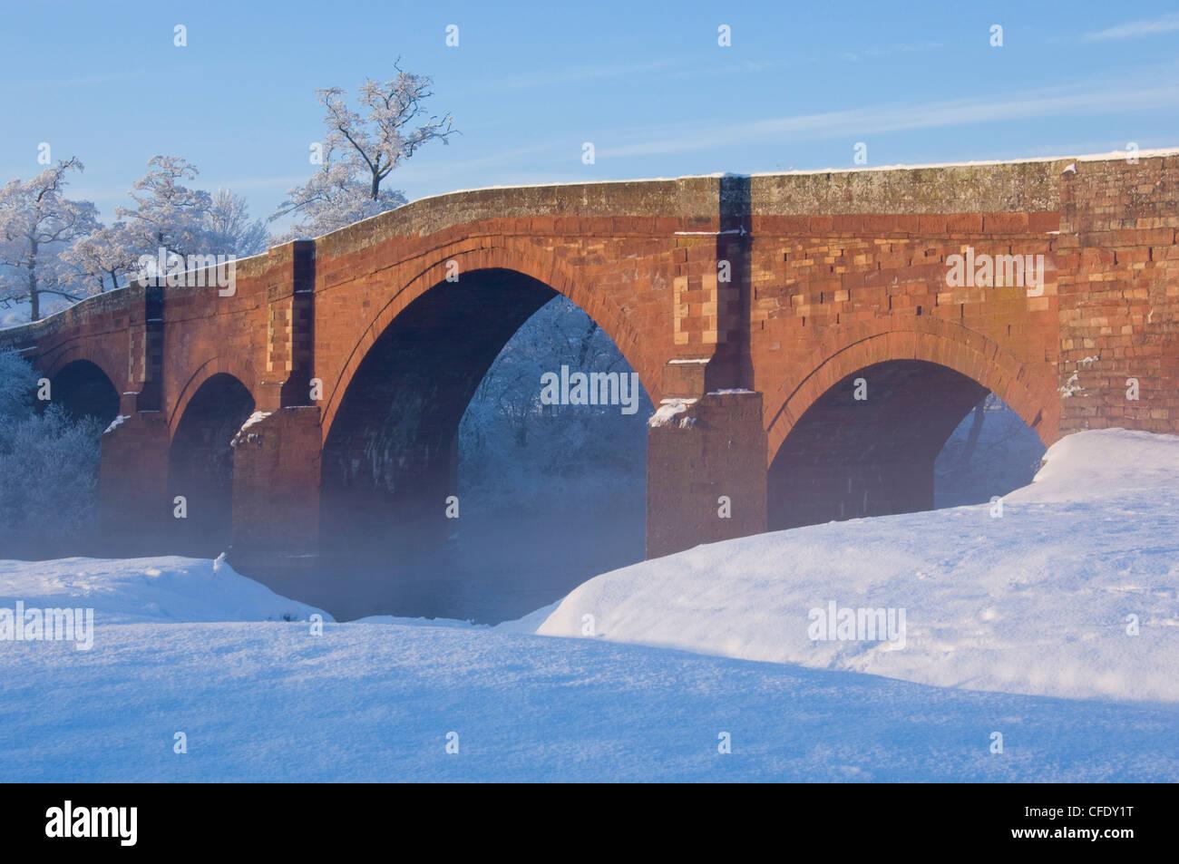 Eden Bridge at Lazonby, Eden Valley, Cumbria, England, United Kingdom, Europe - Stock Image