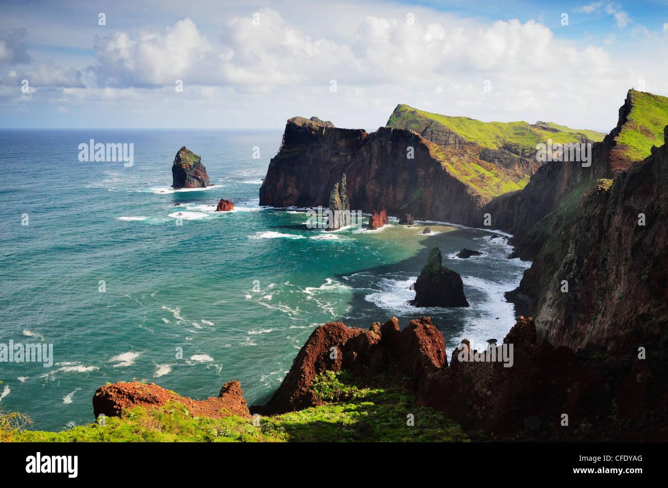 Ponta do Castelo, Madeira, Portugal, Atlantic Ocean, Europe - Stock Image