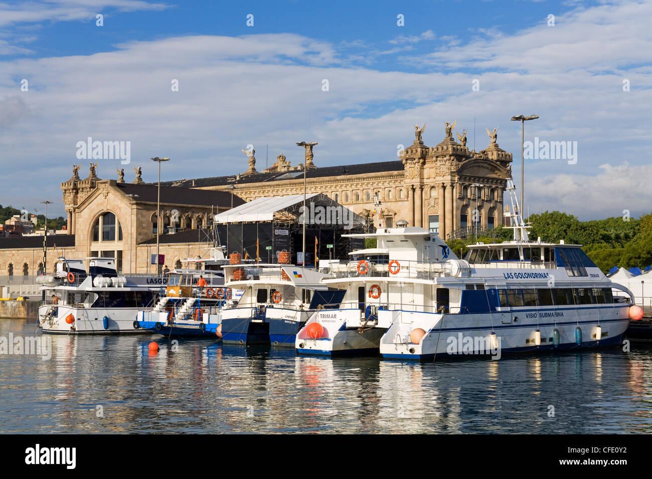 Aduana,in Port Vell, Barcelona, Catalonia, Spain, Europe - Stock Image
