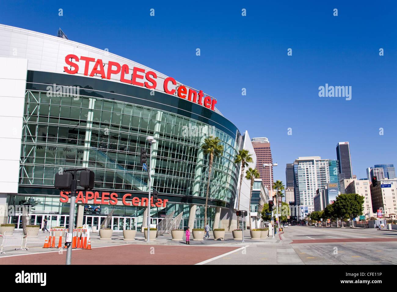 Staples Center, Los Angeles, California, United States of America, - Stock Image