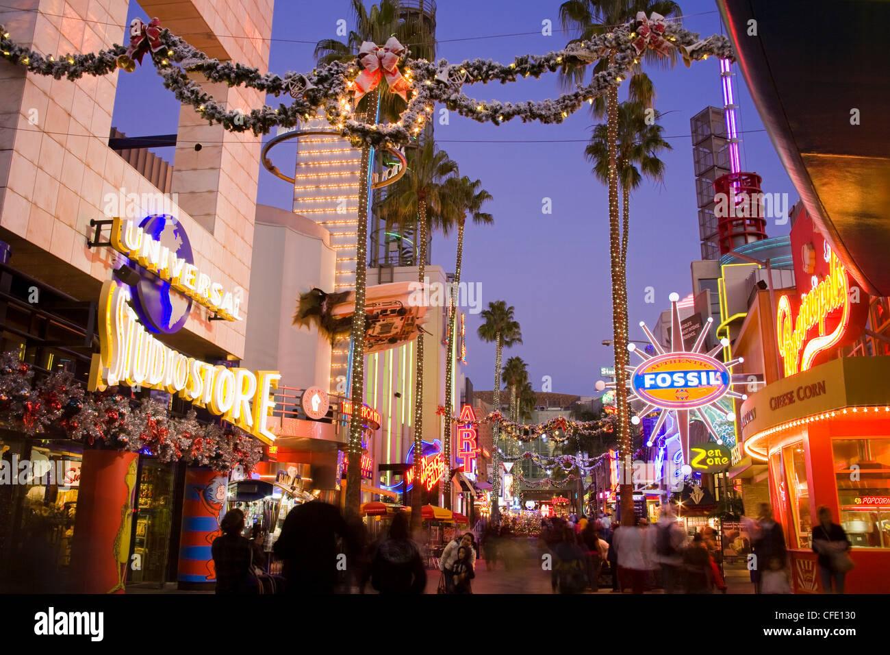 Citywalk Mall At Universal Studios Hollywood In Los