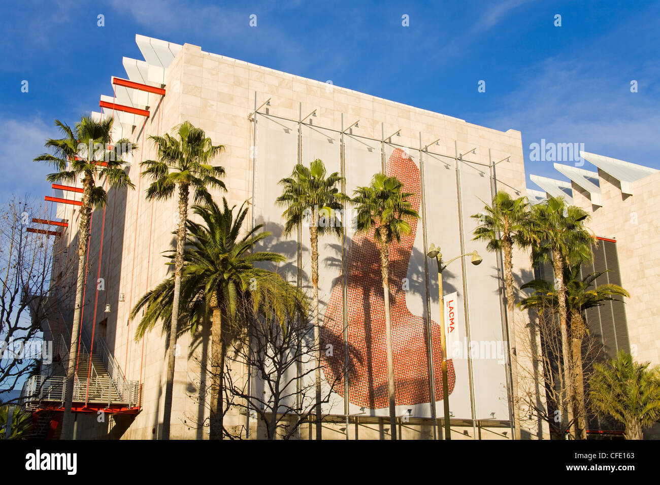 Broad Contemporary Art Museum, Los Angeles County Museum of Art on Wilshire Boulevard, Los Angeles, California, - Stock Image