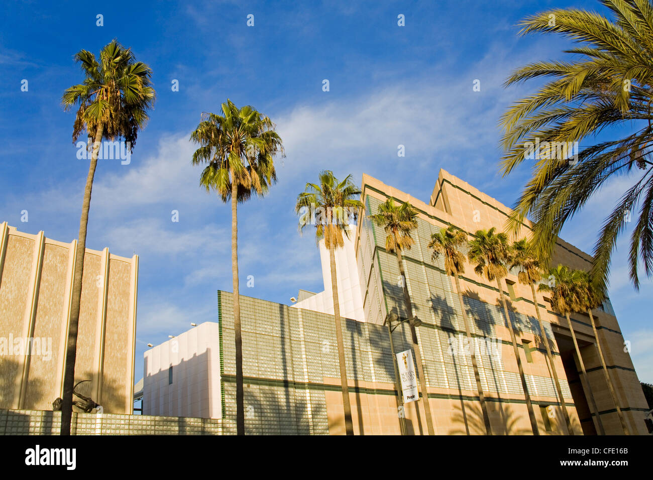 Los Angeles County Museum of Art on Wilshire Boulevard, Los Angeles, California, United States of America - Stock Image
