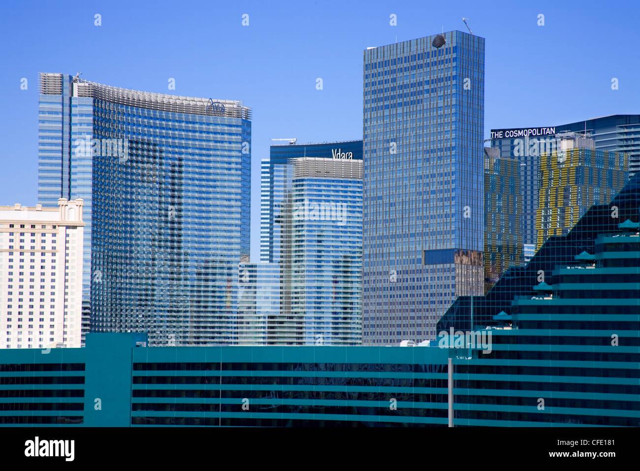 CityCenter and MGM Casino, Las Vegas, Nevada, United States of America, - Stock Image