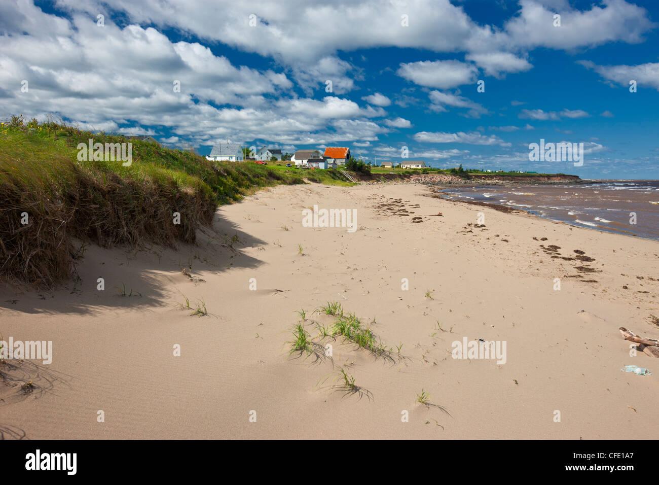 Beach, Wharf Road, Little Shemogue, Acadian Coast, New Brunswick, Canada - Stock Image