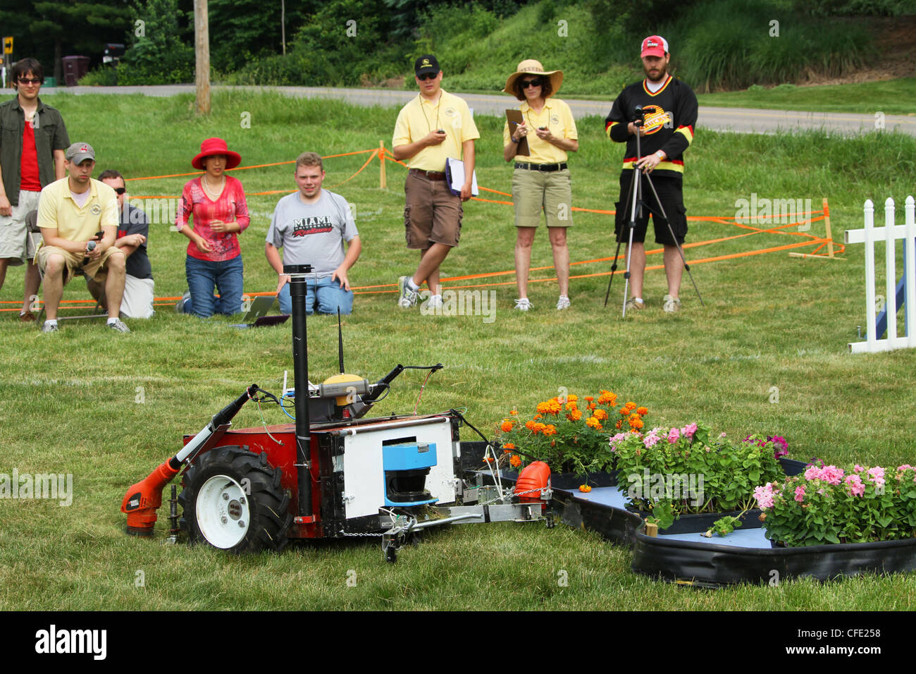 Experimental Robotic Lawn Mower by team Miami University. - Stock Image