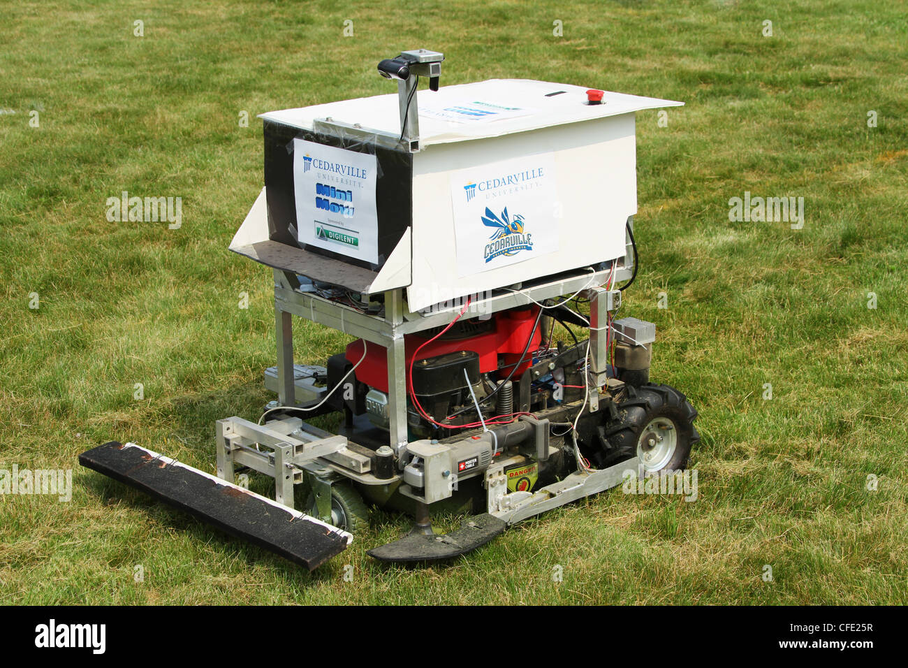 Experimental Robotic Lawn Mower by team Cedarville University. - Stock Image