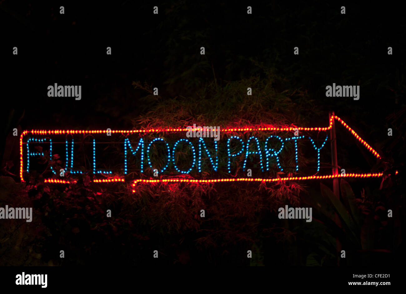 Full Moon Party - Stock Image