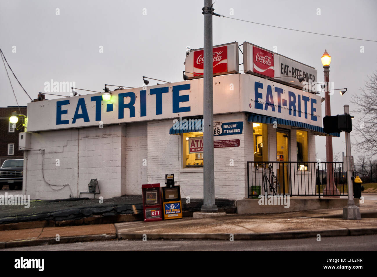 Historic Eat Rite Diner on Route 66 in St. Louis, MO - Stock Image
