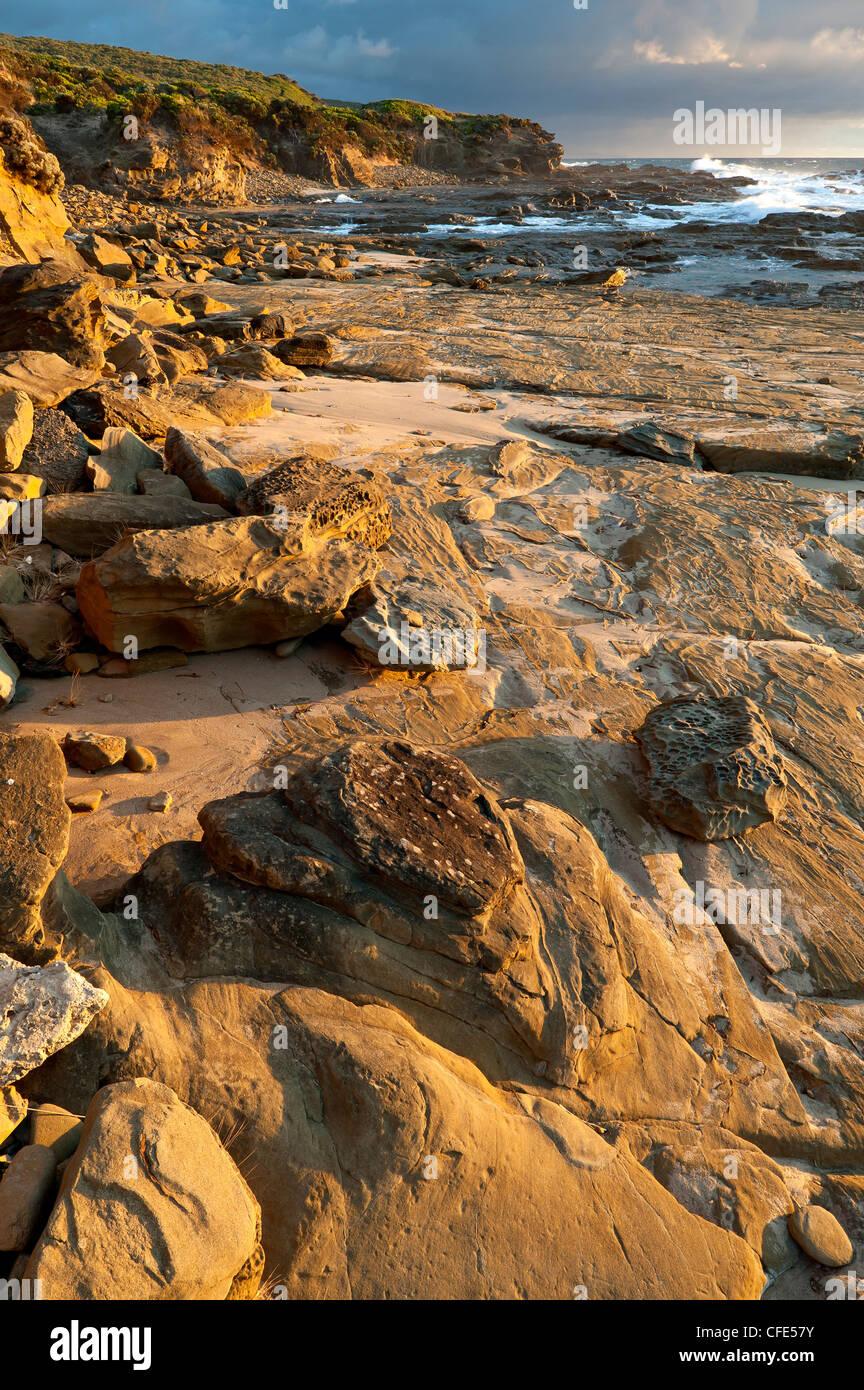 Coast near Point Franklin, Great Otway National Park, Victoria, Australia - Stock Image