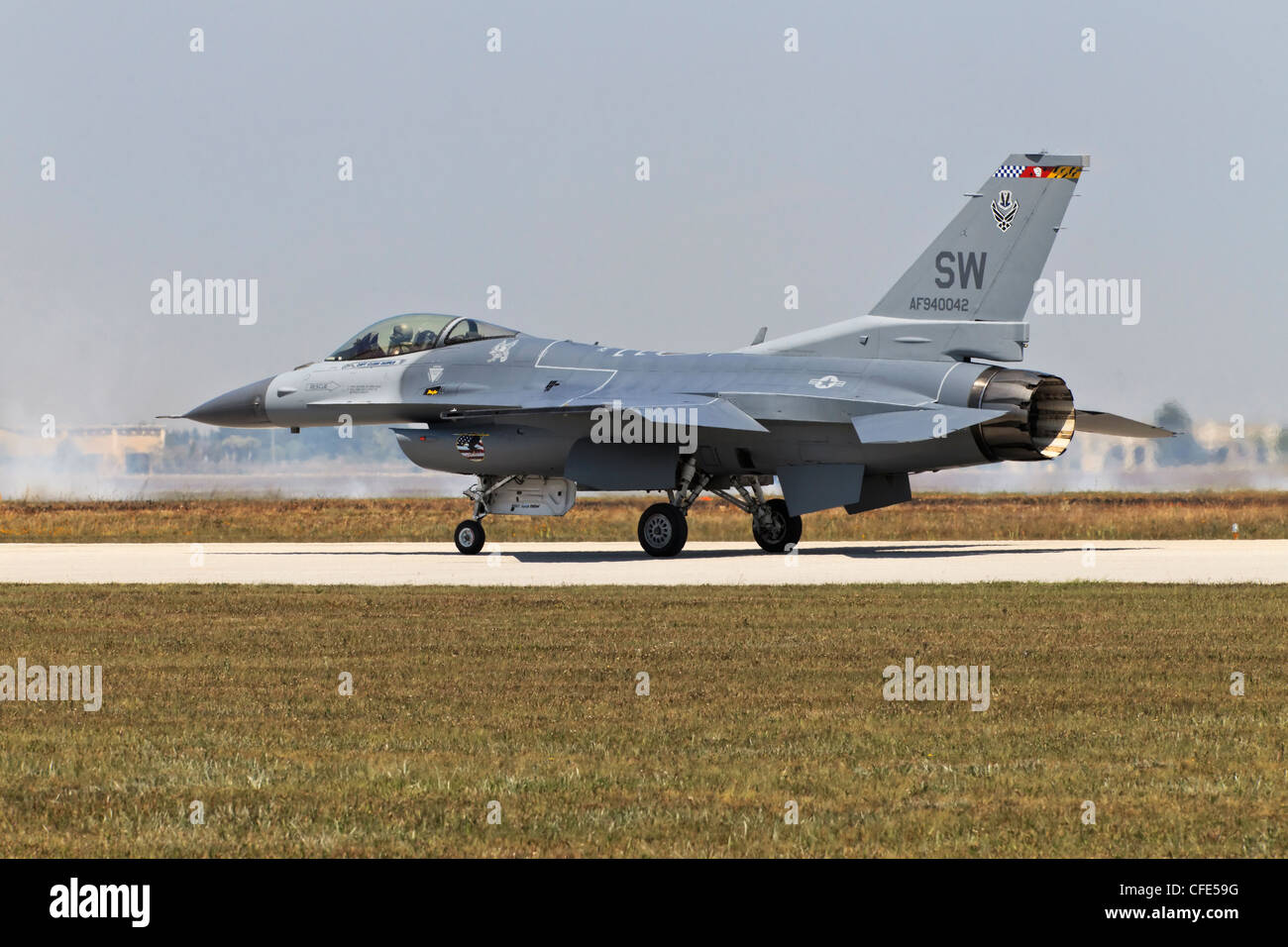 General Dynamics F16 Fighting Falcon of the USAF - Stock Image
