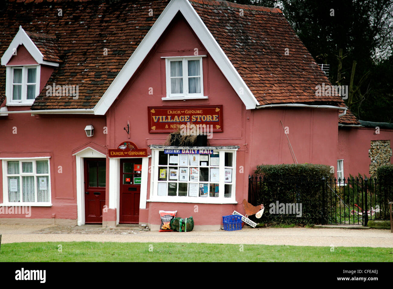 village store in Cavendish Suffolk - Stock Image