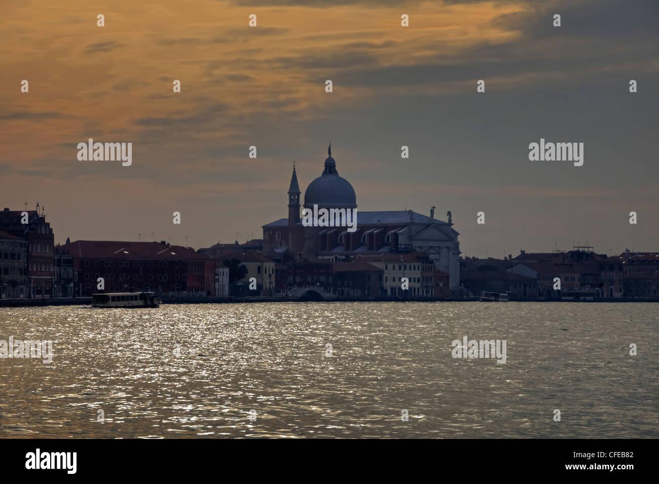 Church of the Redeemer il, Giudecca, Venice, Veneto, Italy, sunset - Stock Image