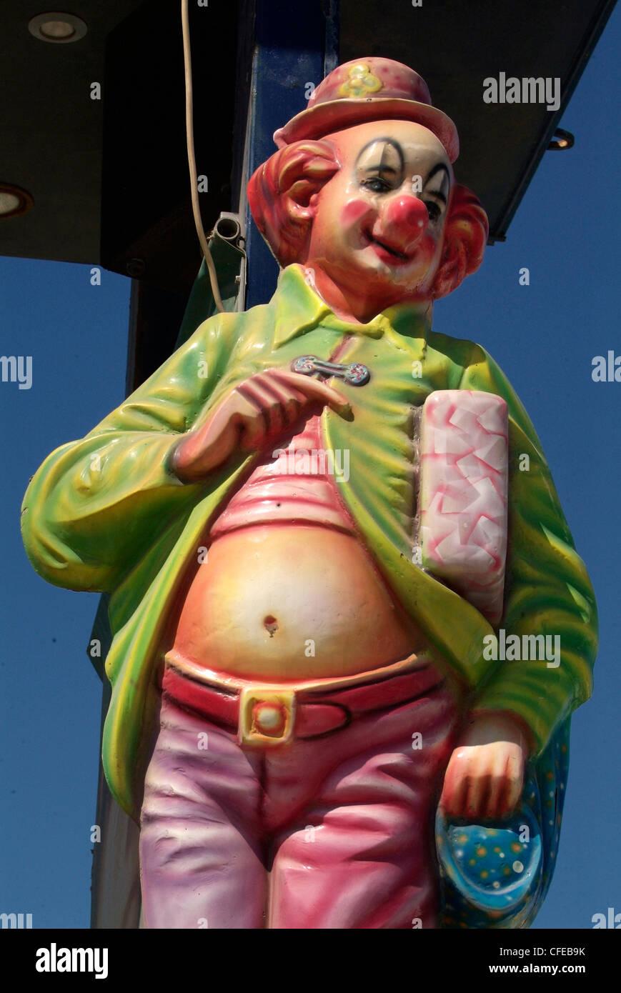 GREECE Athens  South Coast Luna Park Clown - Stock Image