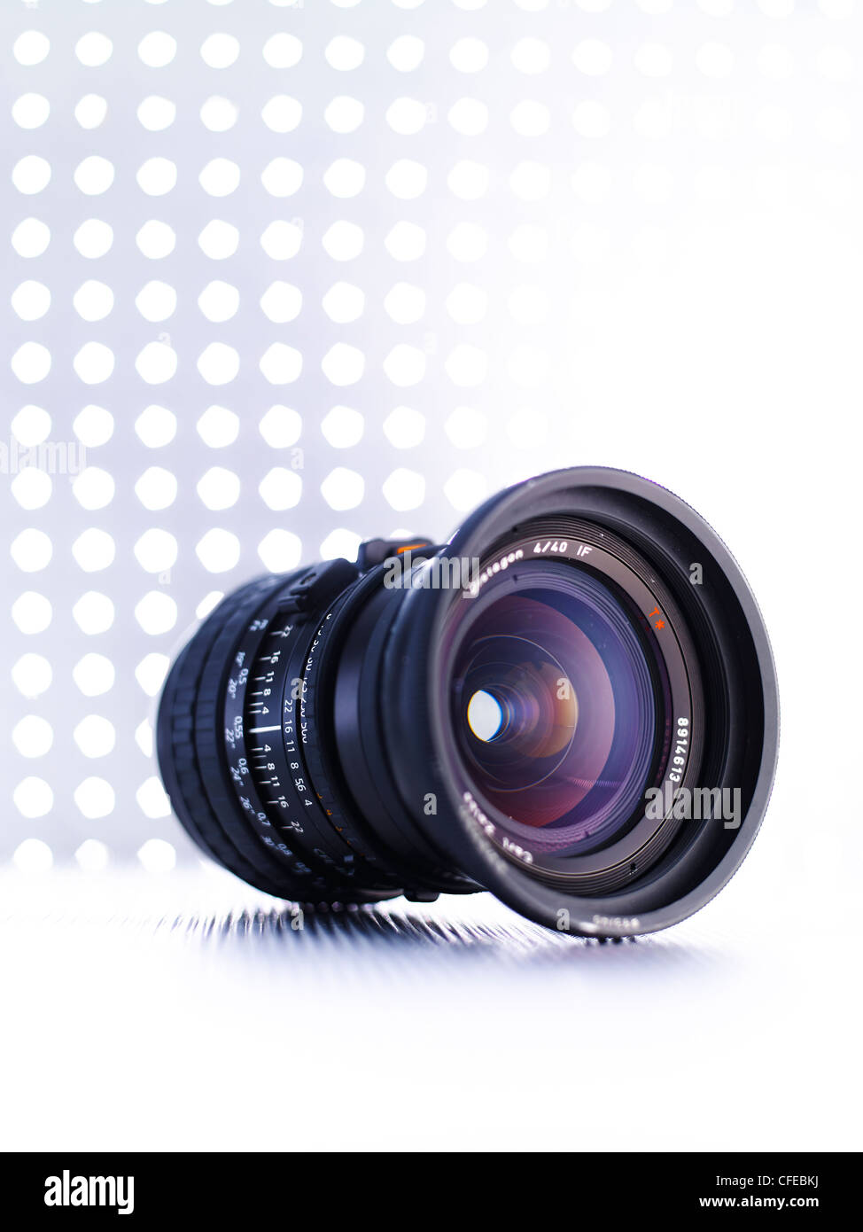 Medium format wide angle lens - Stock Image