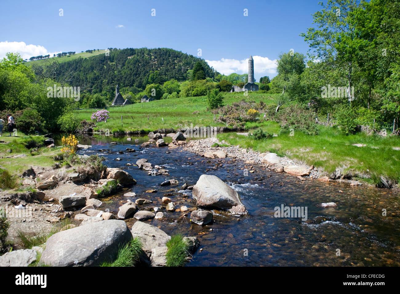 Glendalough, Wicklow, Leinster, Ireland - Stock Image