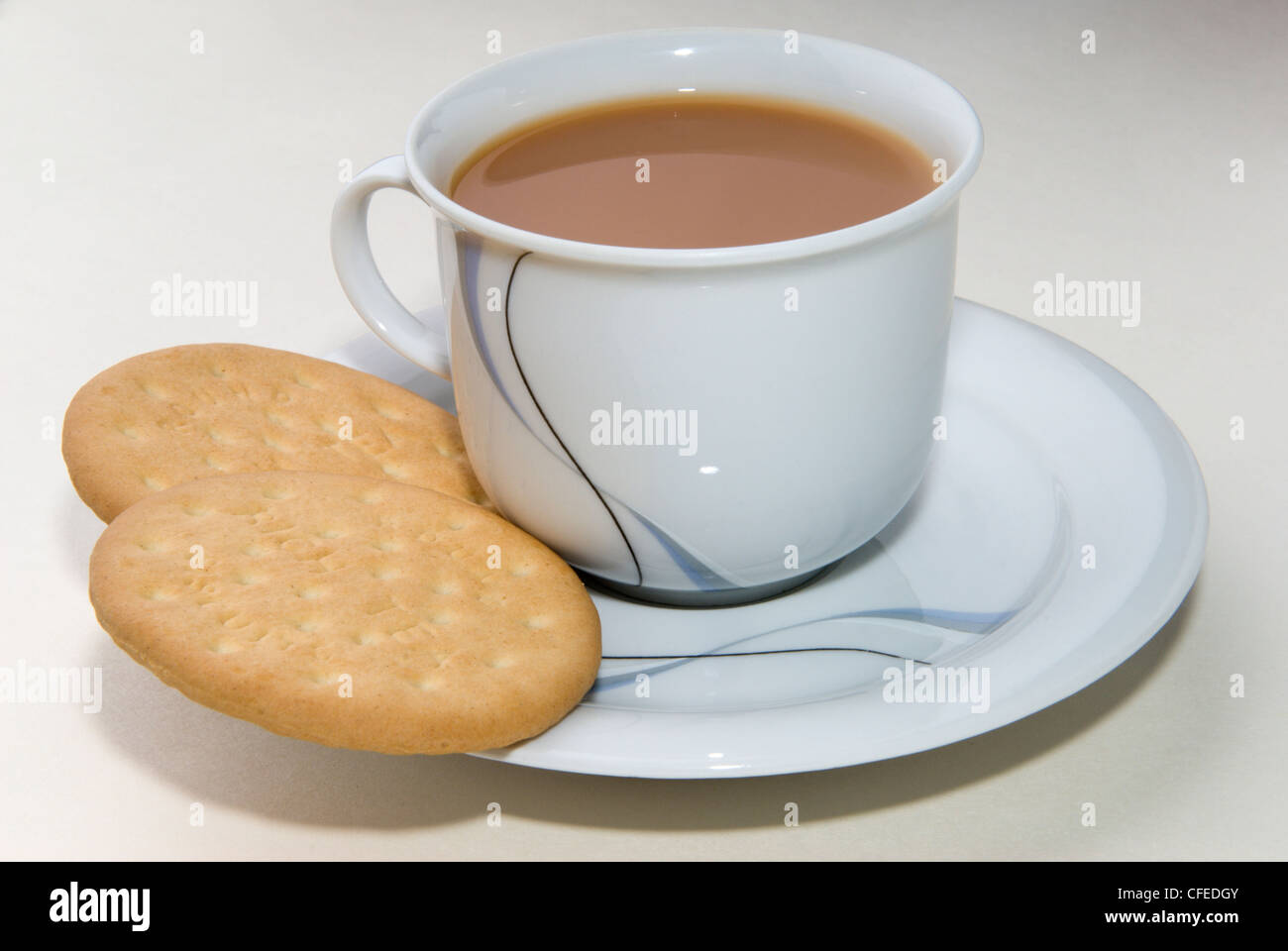Time for tea. A nice cup of tea ready and waiting to refresh with ...