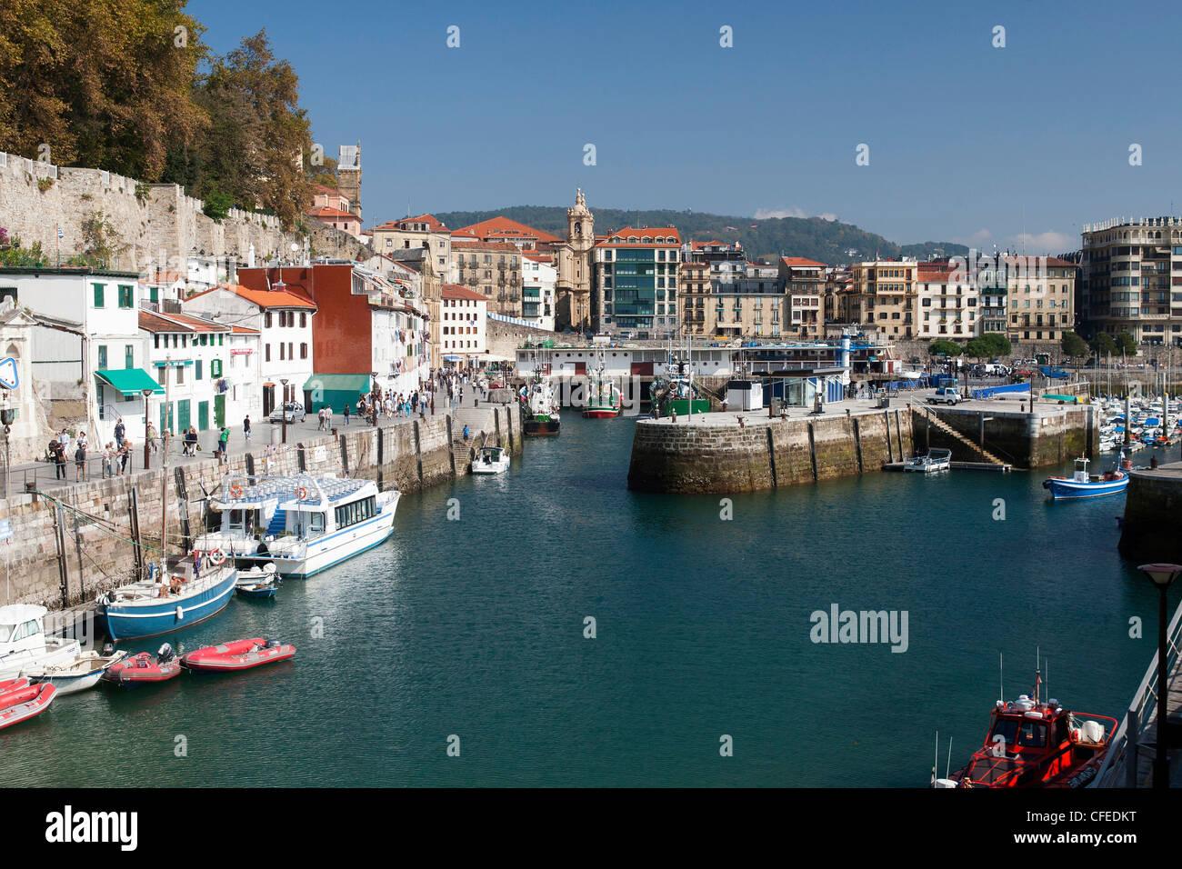 Harbour, Donostia San Sebastian, Basque, Spain - Stock Image