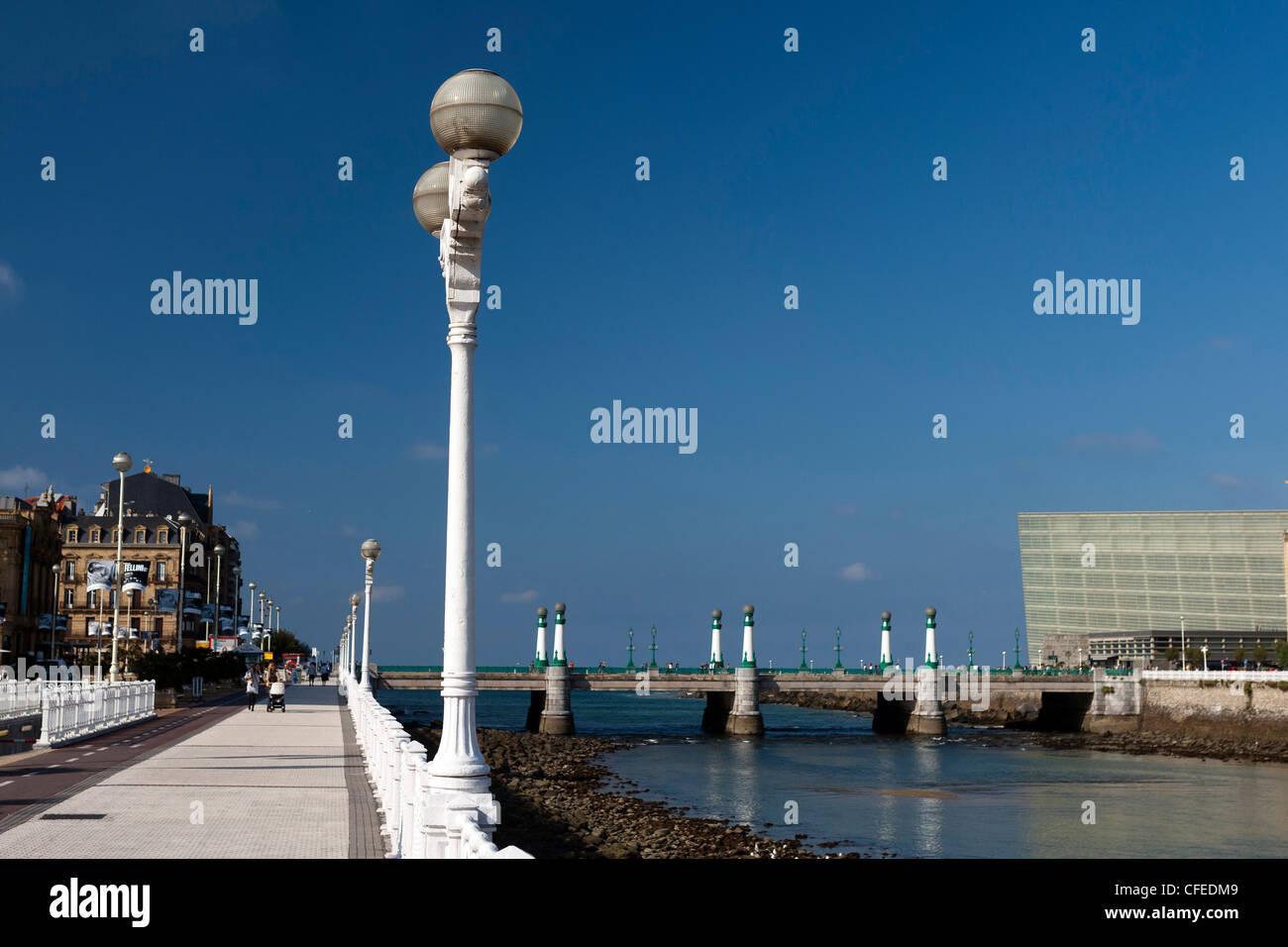 Kursaal Bridge, Donostia San Sebastian, Basque, Spain - Stock Image