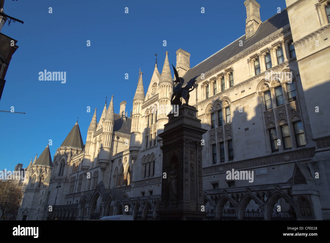 Royal Courts of Justice building, London, UK - Stock Image