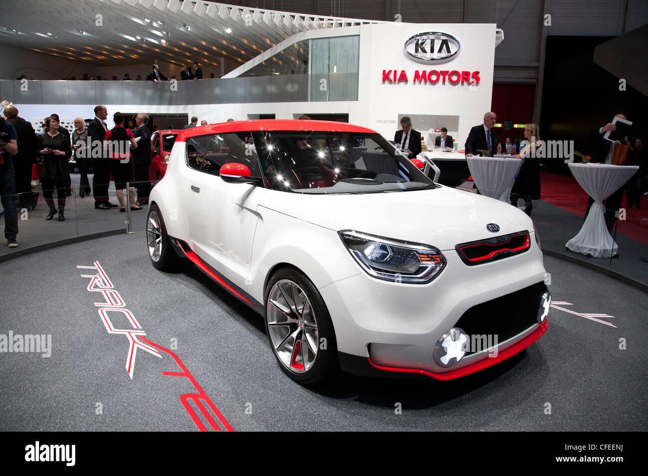 Kia Trackster at the Geneva Motor Show 2012 Stock Photo