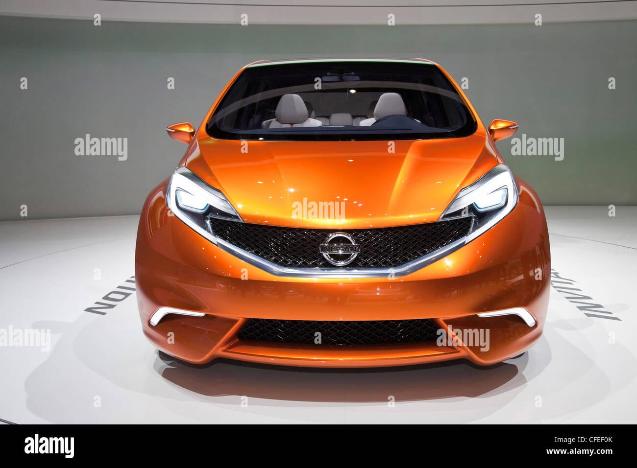 Nissan Invitation at the Geneva Motor Show 2012 - Stock Image