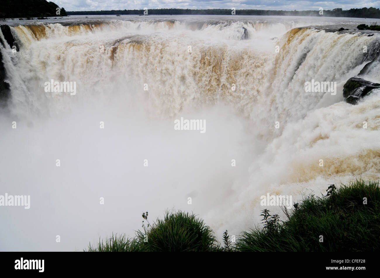 Iguazu Falls. Devil's Throat - Stock Image