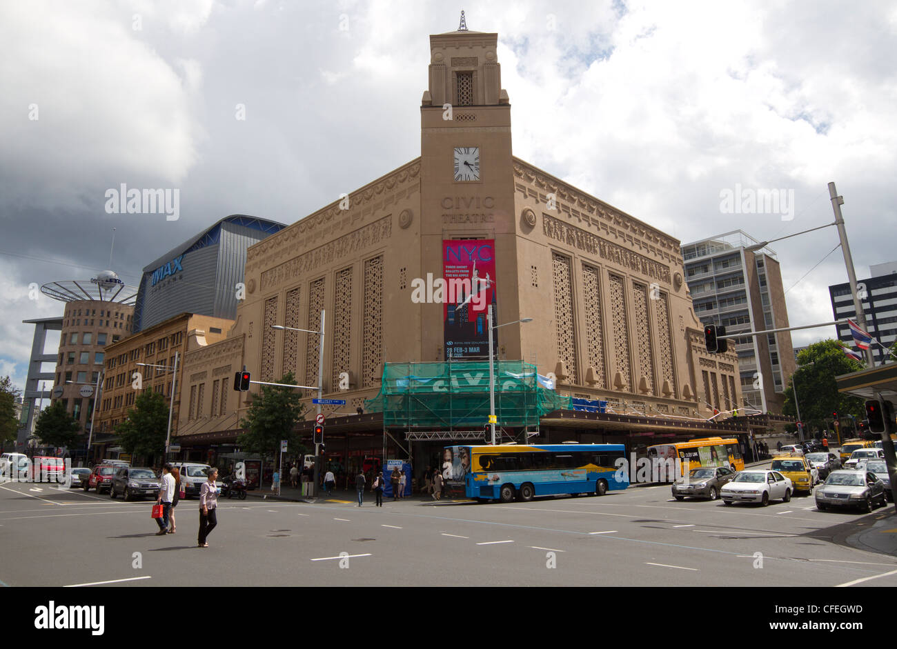 Civic Theater in Auckland, New Zealand - Stock Image