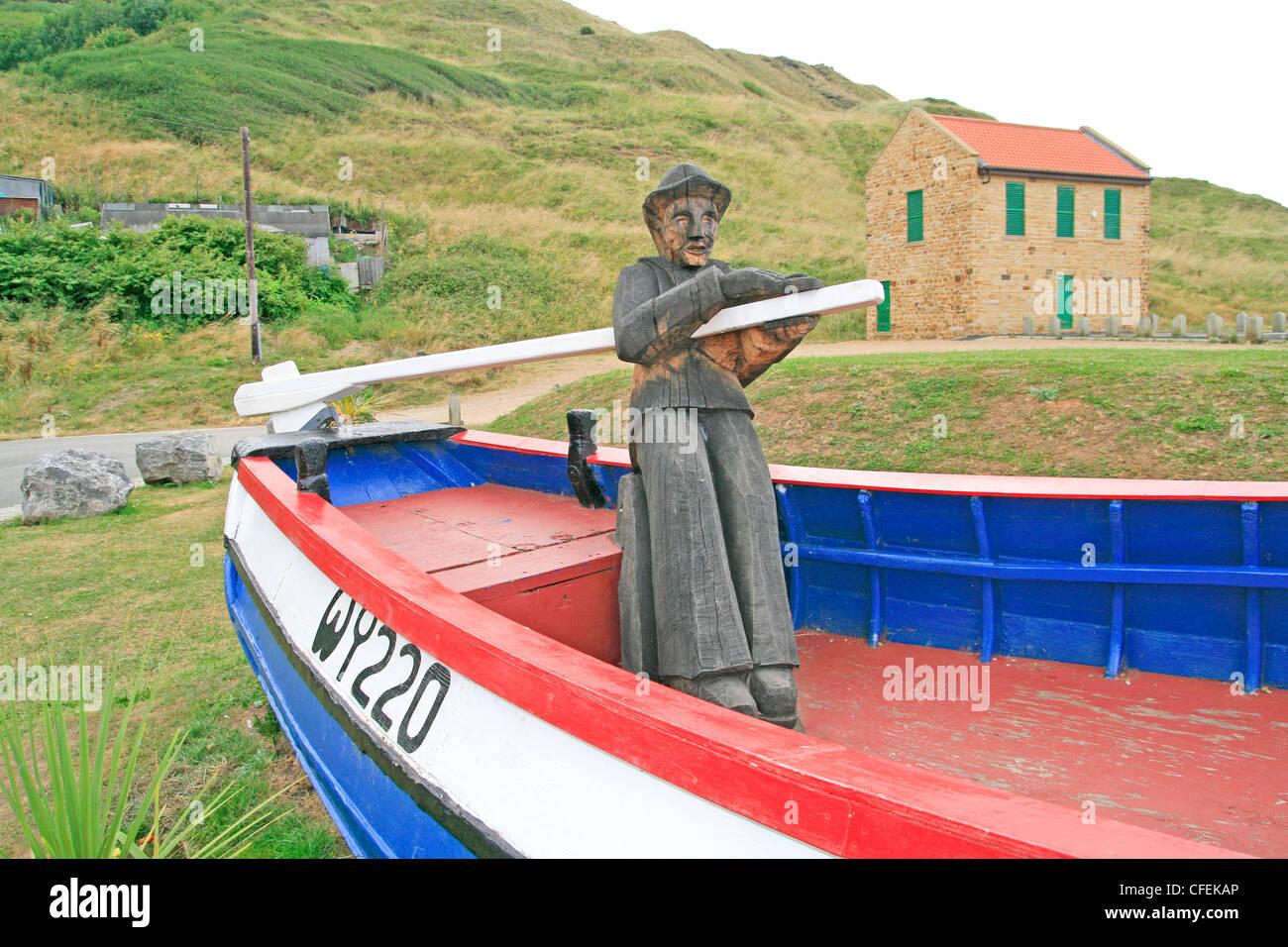 Rebus coble mariners memorial Skinningrove Cleveland England UK - Stock Image