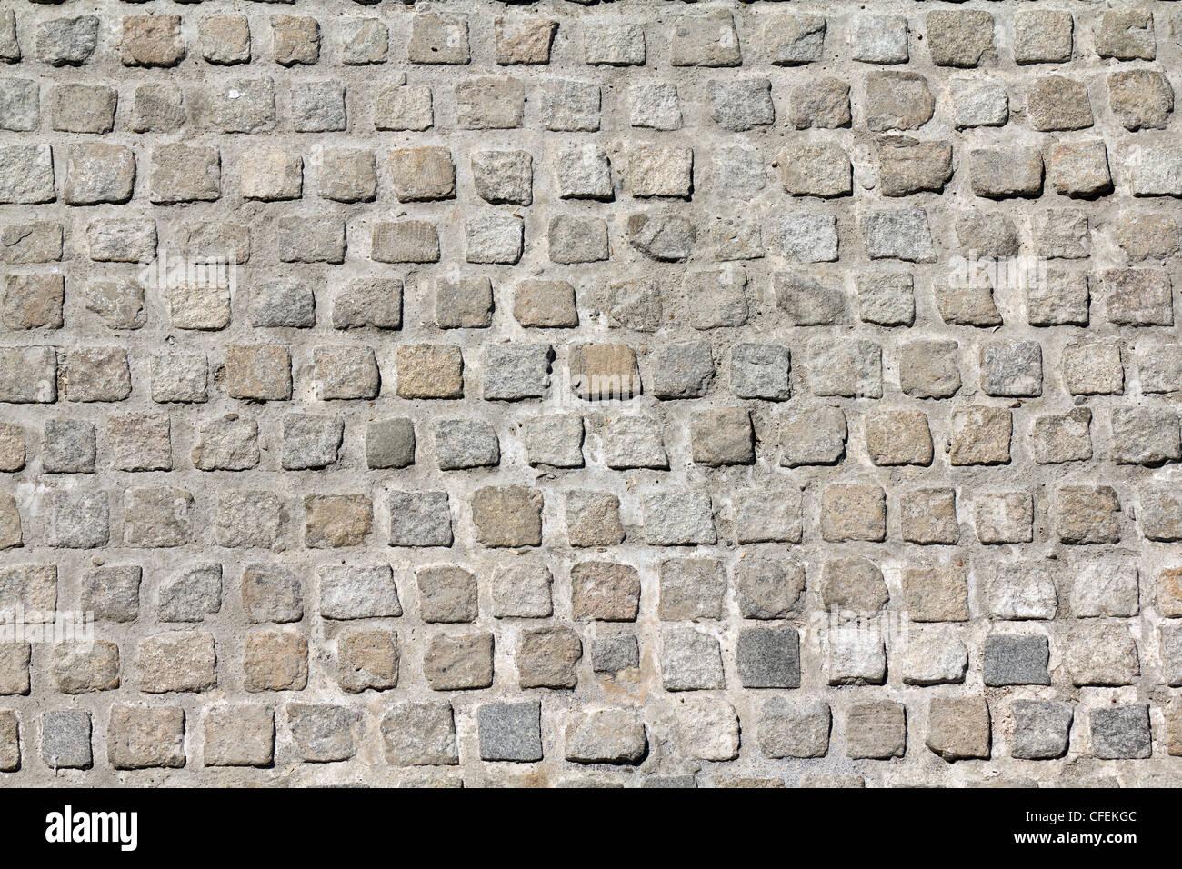 Cobblestone road background pattern - Stock Image