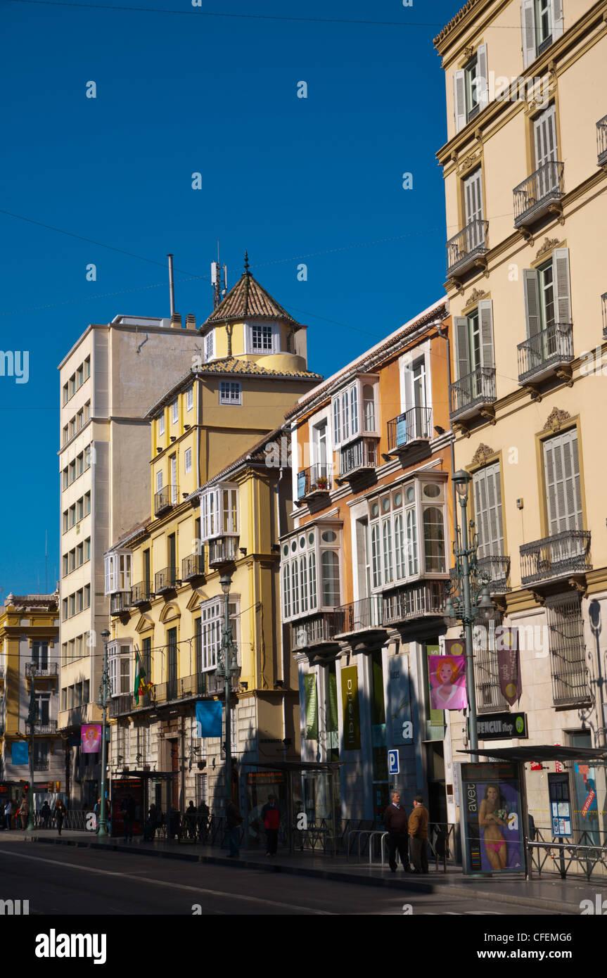 Alameda Principal boulevard central Malaga Andalusia Spain Europe - Stock Image
