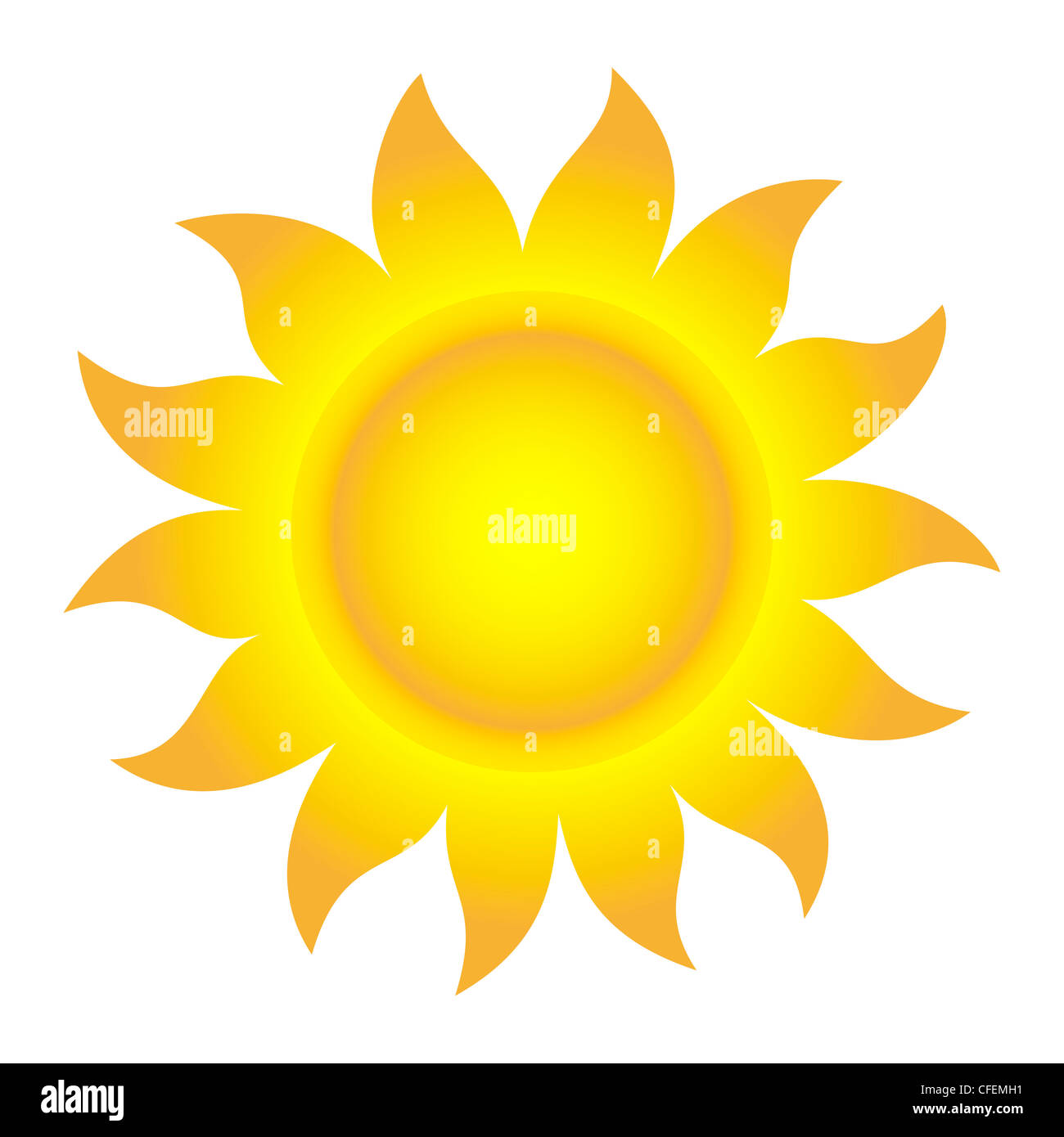 Vector Illustration of Abstract Sun - Stock Image