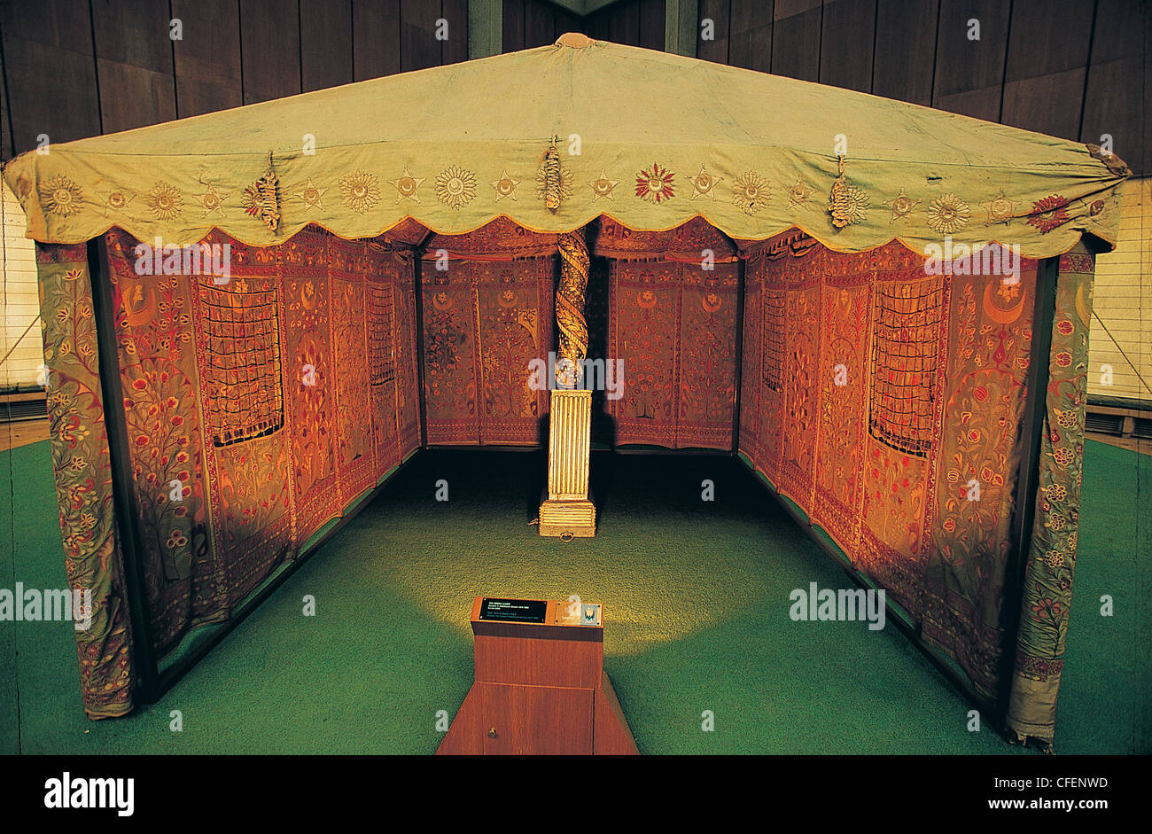 Ottoman Janissary corps tent , Military Museum , Istanbul Turkey . - Stock Image