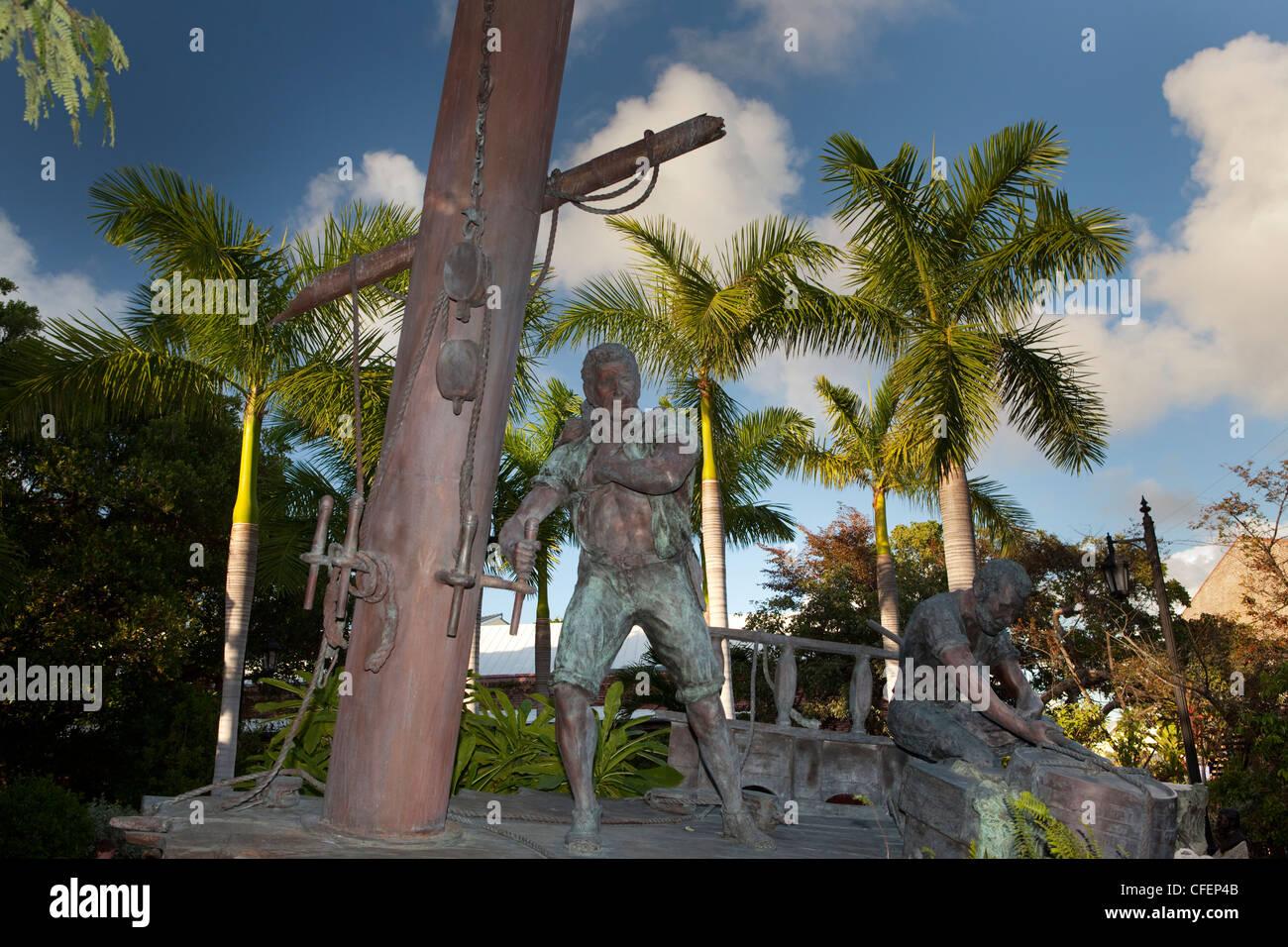 Mallory Square, key west, Florida, USA - Stock Image