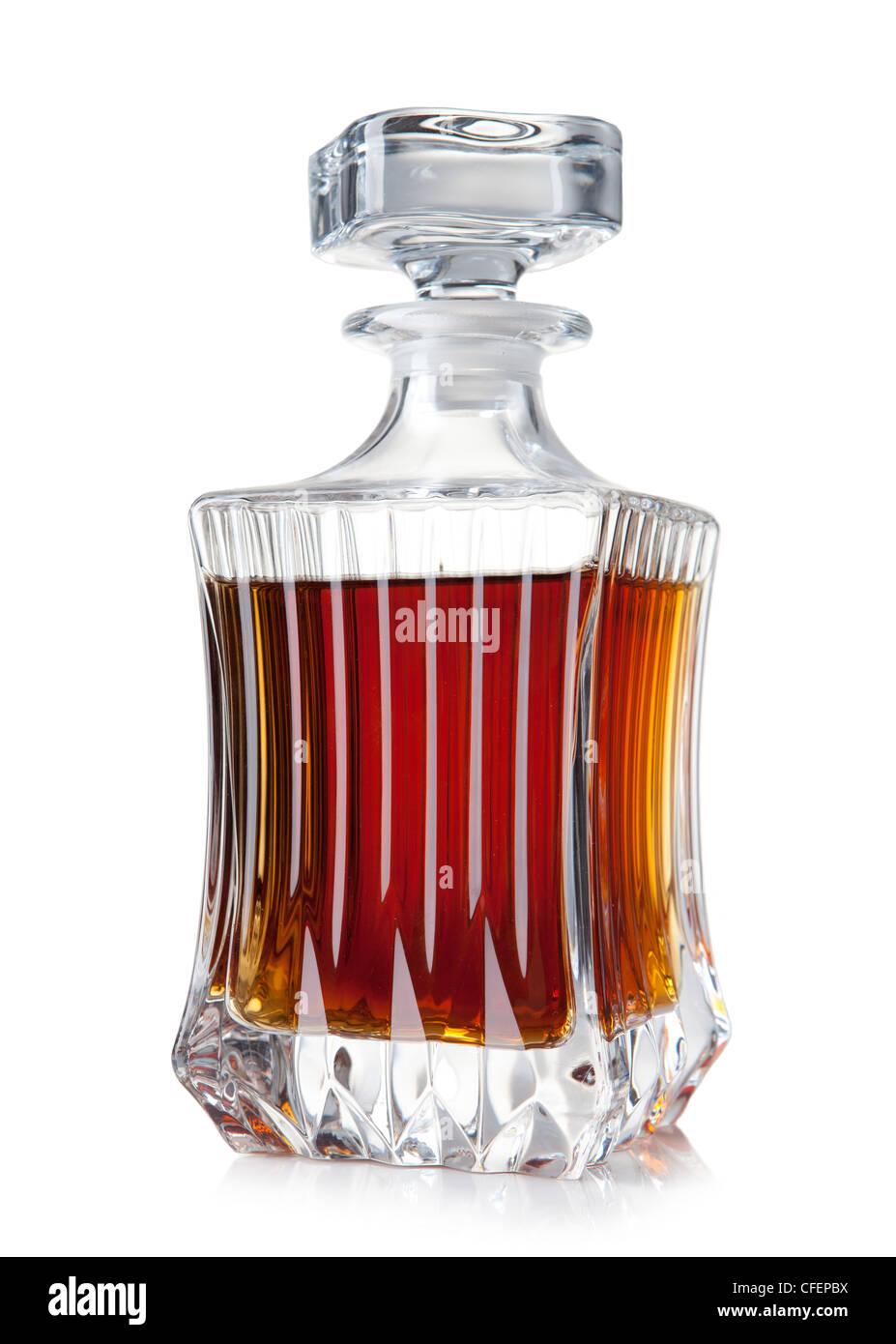 decanter of brandy Stock Photo