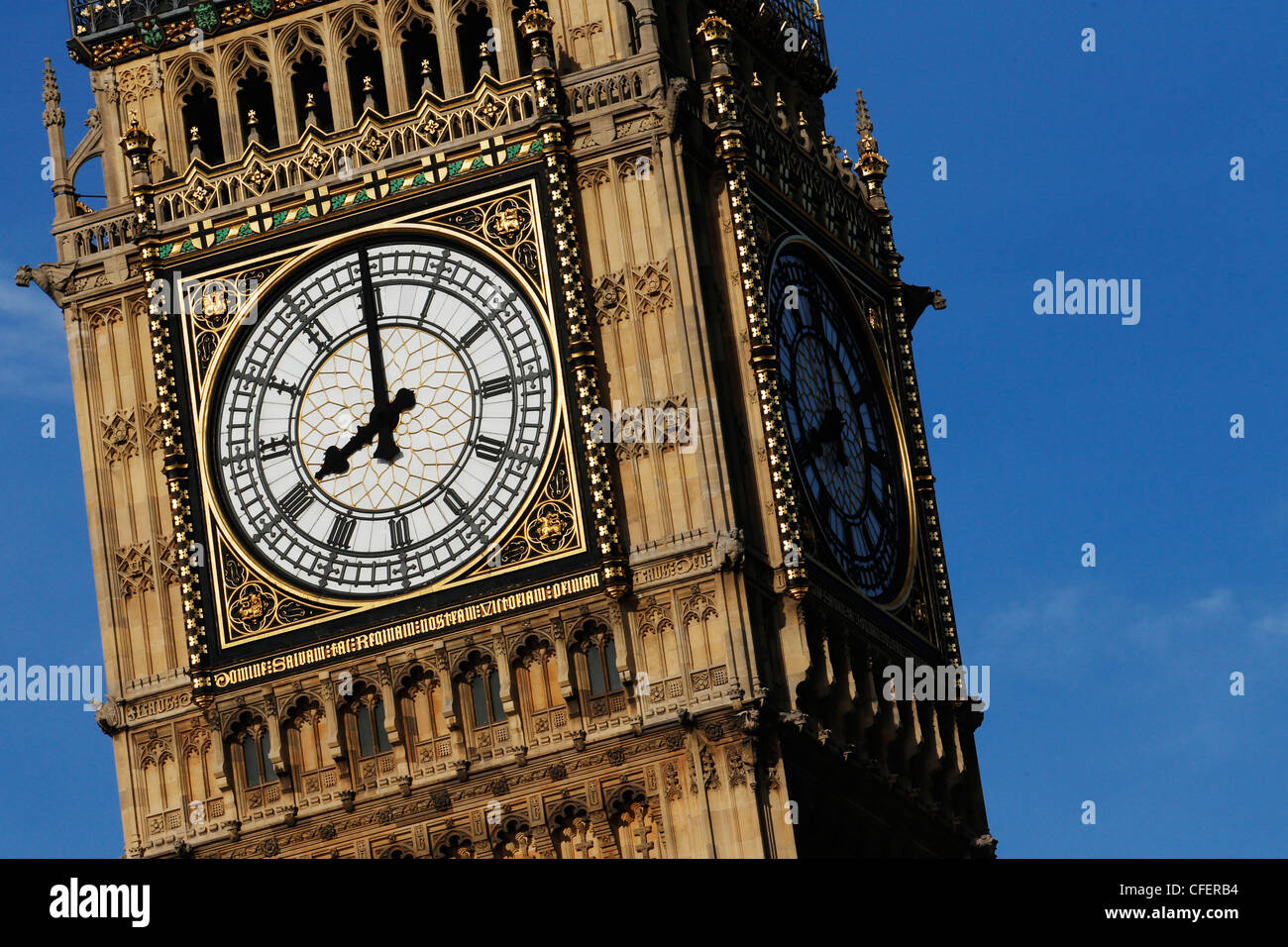 Westminster Palace, Britain's Houses of Parliament and Big Ben clock tower in London - Stock Image