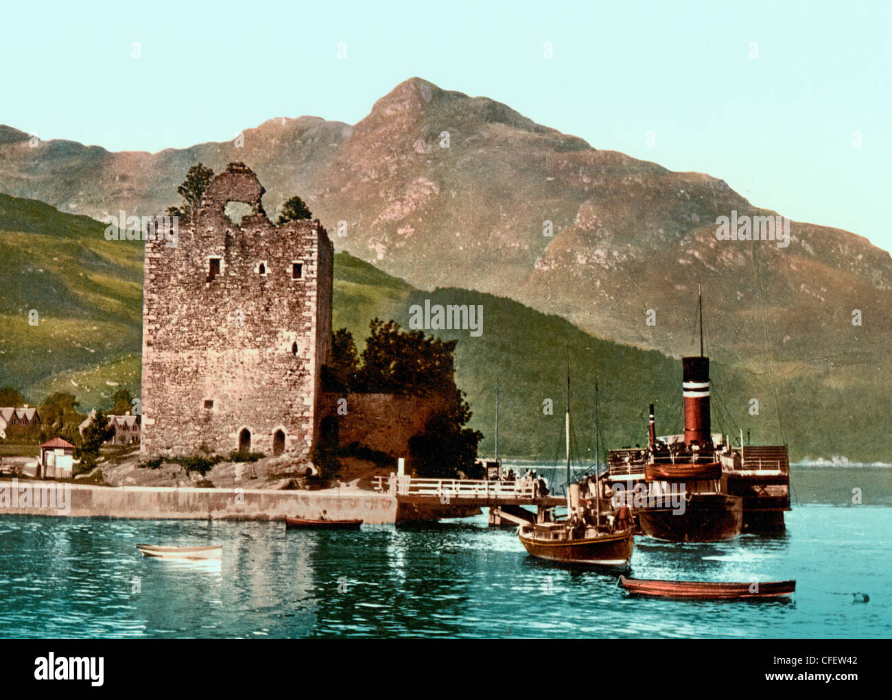 Carrick Castle, Lochgoil (i.e. Loch Goil), Scotland, circa 1900 Stock Photo
