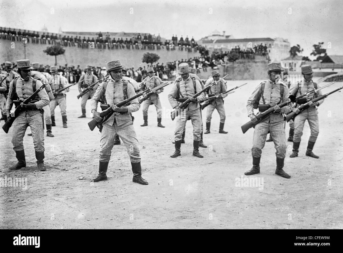 Infantry, Portugal, circa 1915 - Stock Image