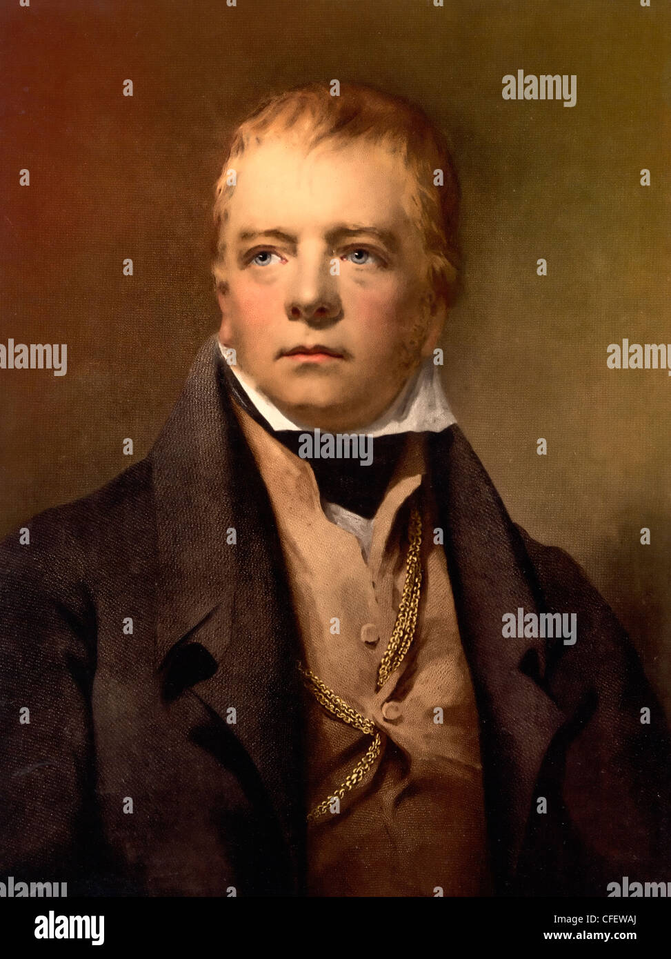 Portrait of Sir Walter Scott,  Scottish author - Stock Image
