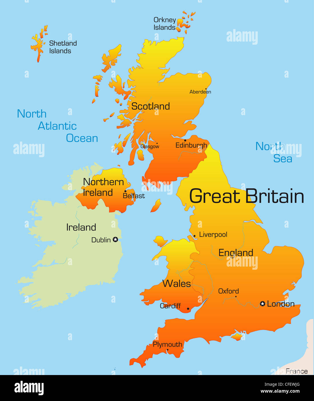 Abstract vector color map of Great Britain
