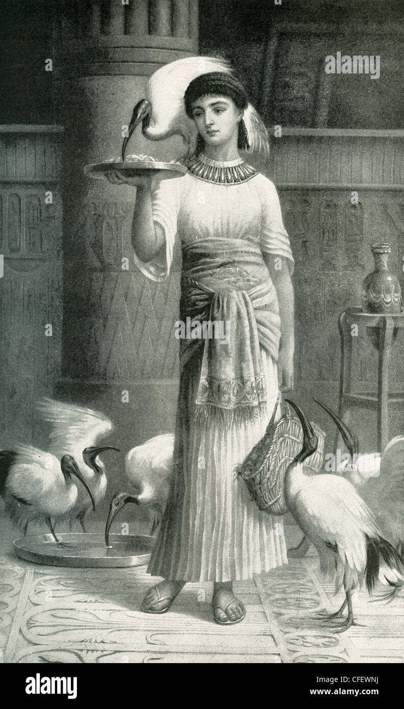 This painting is based on a poem and a novel by Irish poet Thomas Moore and shows the character Alethe, priestess - Stock Image