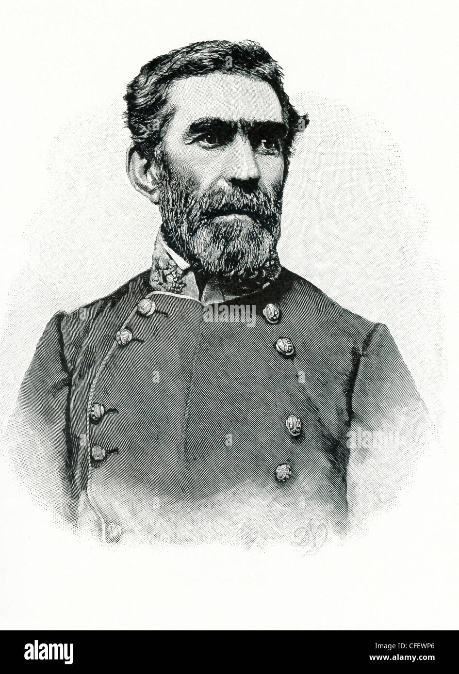Braxton Bragg (1817-1876) was a Confederate general . He led A. S. Johnston's Second Corps in the battle of - Stock Image