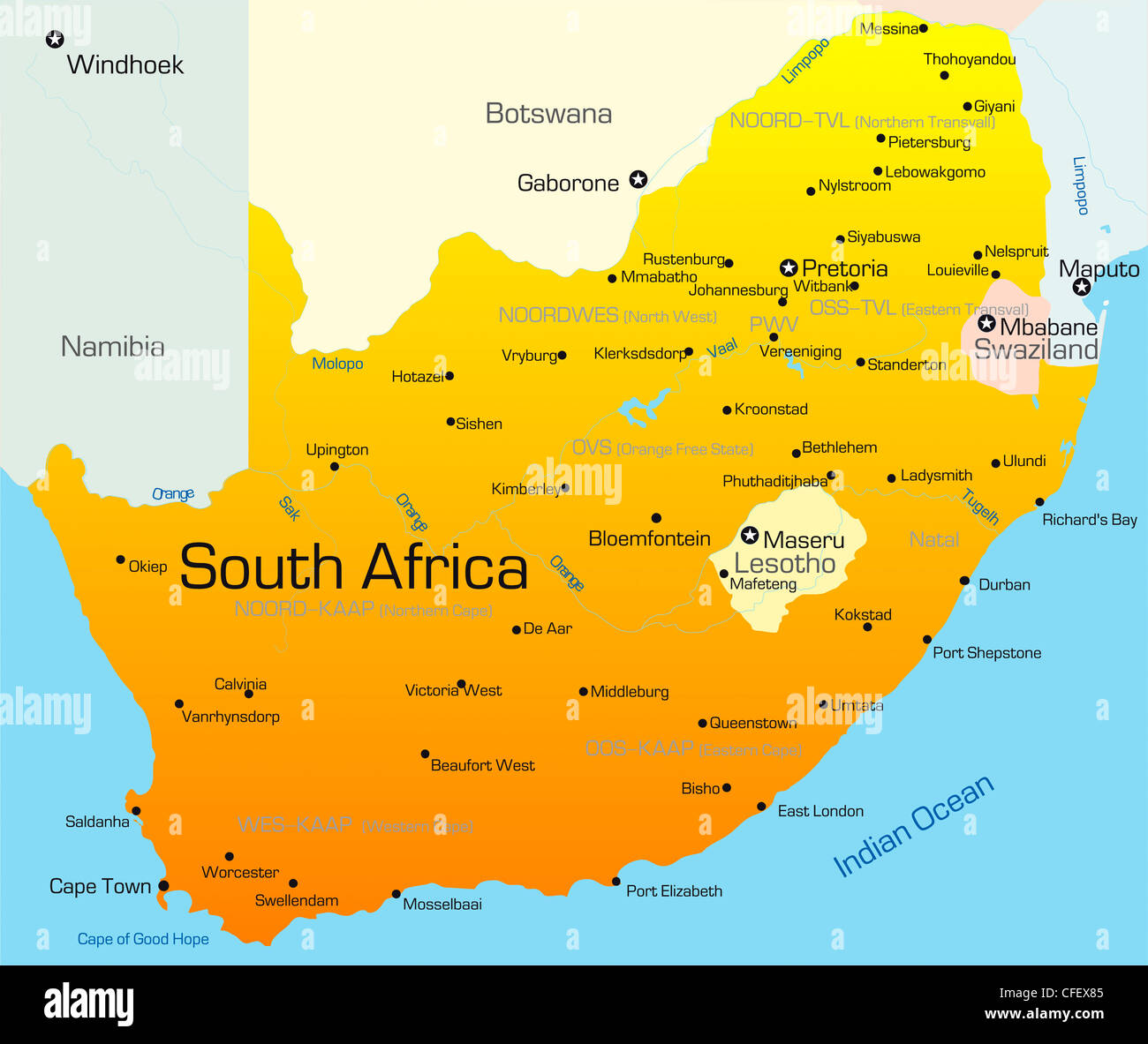Lesotho South Africa Map.Map Of Africa Lesotho
