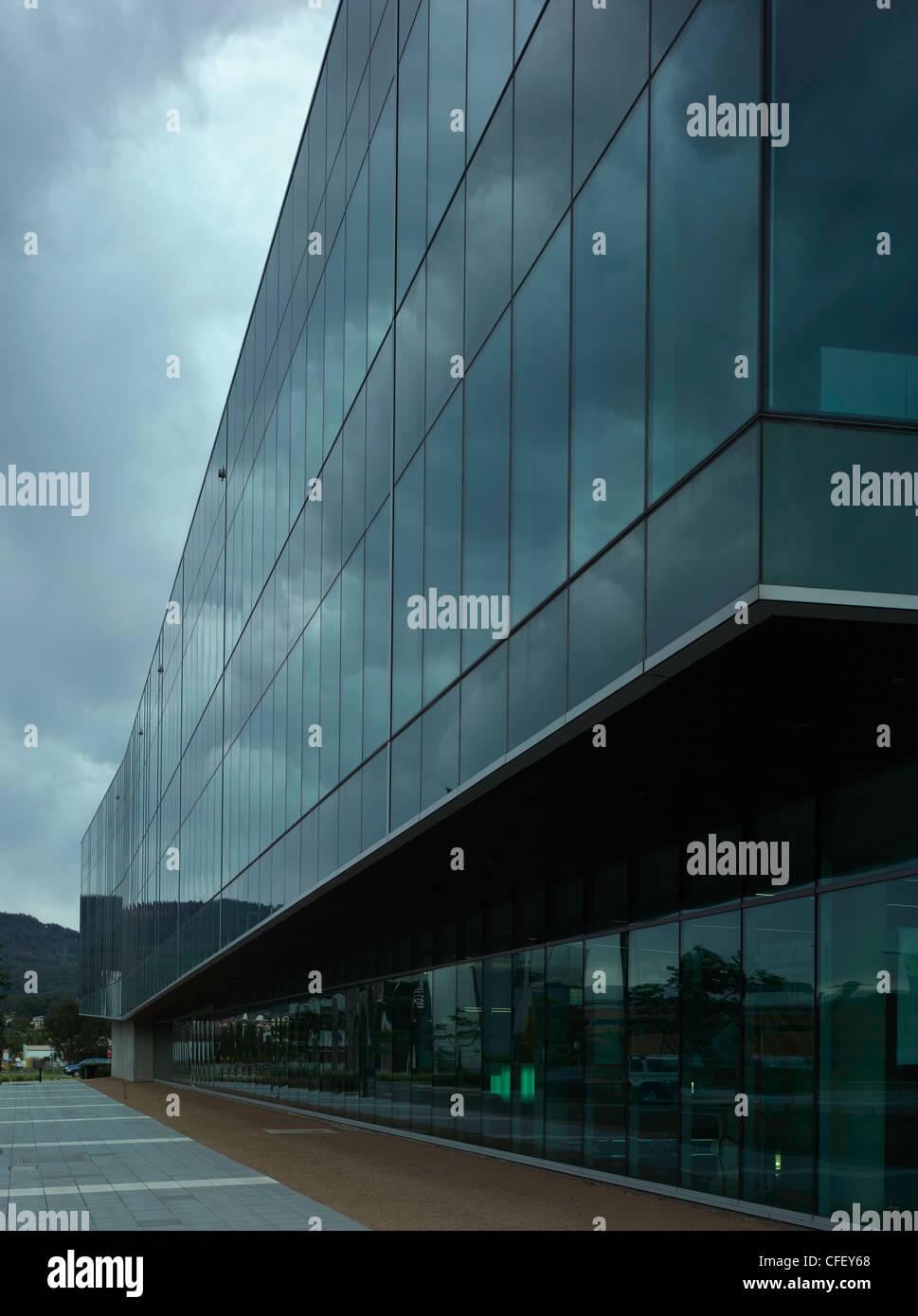 Cantilevered Glass building, Illawarra Australia - Stock Image