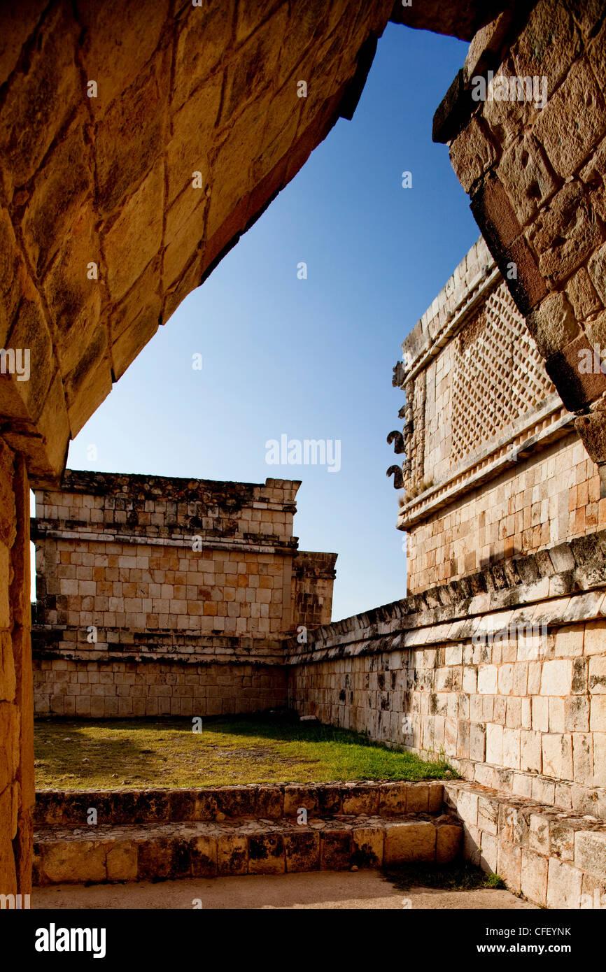 The Nunnery Quadrangle, Uxmal, UNESCO World Heritage Site, Yucatan, Mexico, Stock Photo