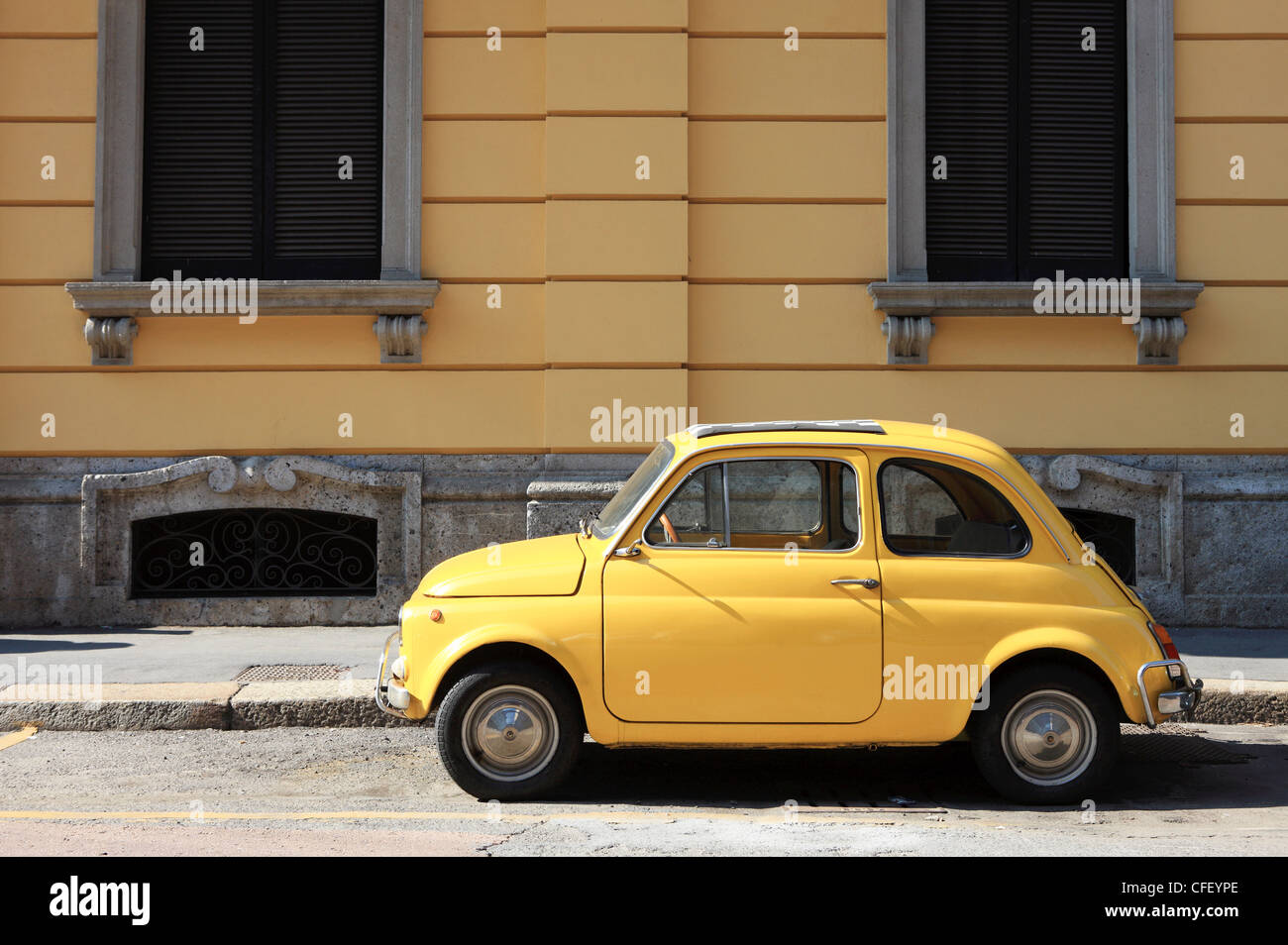 Old Car, Fiat 500, Italy, Europe - Stock Image